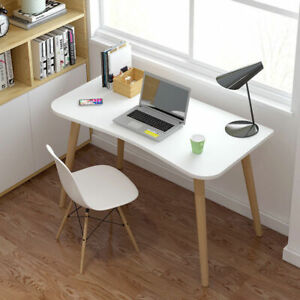 80cm Small Computer Desk Laptop PC Table Study Home Office with Wooden Legs UK
