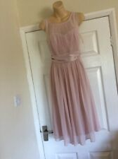 Sized 12 Short  Pink Occasion Bridesmaid Dress  Cruise   NEW