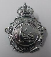 Genuine Vintage Kings Crown St Vincent Police Decorative Dress Hat Badge  - NEW
