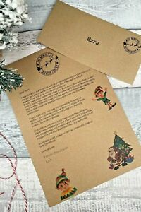 Babys First Christmas Letter From Santa Keepsake, Personalised with Envelope