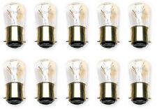 10x 15W B22 B22d Light Bulbs Pygmy Glass Clear White Bayonet Cap