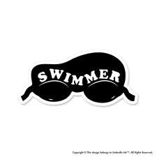 Swimmer Retro Goggles Sticker Sport Swimming Decal Car