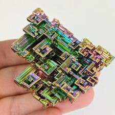 XL Rainbow Bismuth Crystal Healing Transformation Stone Mineral Educational