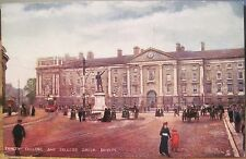 Irish Postcard TRINITY COLLEGE GREEN Dublin Ireland Raphael Tuck's Oilette 6181