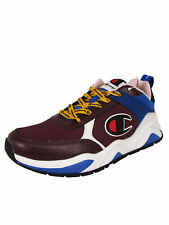 Champion Mens 93Eighteen Block Lace Up Sneaker Shoes, Maroon/Multi, US 11.5