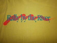 vtg RALLY BY RIVER T SHIRT Toledo Promenade Park 80s 90s 1991 Concert Party XL