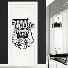 I162 Wall Decal Sticker wolf tiger clutches basketball field goal football game