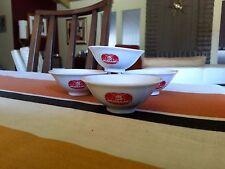 4 Vintage NUMANO JAPAN SAUCE BOWLS CUPS SAKE 1 oz red