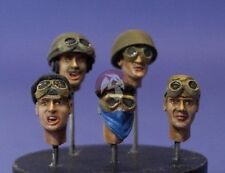 Resicast 1/35 British Tanker Heads WWII No.2 (5 Different Heads) [Resin] 355588