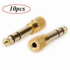 10 Pcs 6.35mm 1/4'' Jack Plug to 3.5mm Male Stereo Headphone Jack Socket Adapter