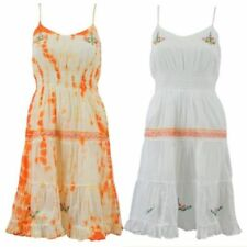 Regular Size 100% Cotton Dresses for Women with Embroidered