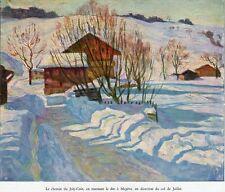 74 MEGEVE LE CHEMIN DE JOLY COIN DIRECTION COL DE JAILLET IMAGE 1932 PRINT ;