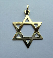 9ct Gold Small Lightweight Star of David Pendant 0.4g