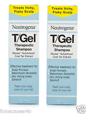 2x 250ml tgel T/GEL Theraputic SHAMPOO NEUTROGENA T GEL prurito del cuoio