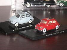COPPIA NUOVA FIAT 500 1957 1:43 Solido + Edicola. MINT.