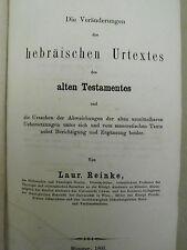 Reinke – Hebräischer Urtext des Alten Testaments - 1866