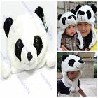 Cartoon Animal Cute Panda Earmuff Fluffy Plush Hat Cap