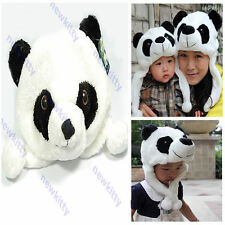 Cartoon Animal Cute Panda Earmuff Fluffy Plush Hat Cap
