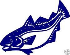 1  COD FISH window STICKER DECAL fish shop catering van