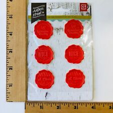 6 Red Self-Adhesive  Santas Workshop Wax Seals Stickers Gift or Envelope Seal