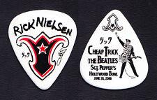 Cheap Trick Rick Nielsen Hollywood Bowl White Guitar Pick - 2008 Tour