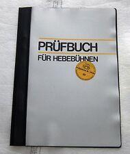 Neues/Original/Blanko Prüfbuch Hebebühne Beissbarth/Romeico Lift