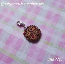 Miniatura Berry Pendente Charm Cookie handmade fimo dolce MINI KAWAII novità