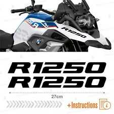 2pcs Adesivi Nero compatibile Moto BMW R 1250 GS HP R1250 ADVENTURE R1250GS