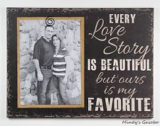 RUSTIC HANDMADE BLACK WOOD LOVE 5 X 7 PICTURE FRAME PHOTO SIGN HOME DECOR 1052