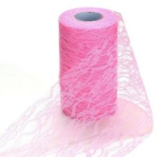 Chair Decor Skirt Wedding Fabric Table Runners Lace Roll Wedding Decor Tulle