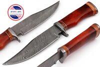 Damascus Knife Handmade Hunting Knife Bowie 12 inch Bone Handle MBE845