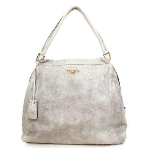 PRADA Leather handbag logo Hardware gold