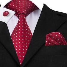 Herren Hochzeit Rot Krawatte Seide formale Krawatte versandkostenfrei N-1018