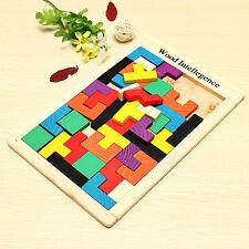 Bois Tangram Puzzle Casse-tête Tetris Enfant Bébé Jouet Toy Educatif Noël Cadeau
