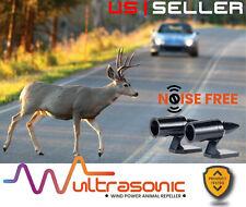 2 Black Universal Elk Deer Animal Alert Warning Whistles Ultrasonic Car Truck (Fits: Chrysler Concorde)