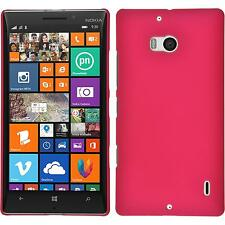 Custodia Rigida  Nokia Lumia 930 - gommata rosa caldo + pellicola protettiva