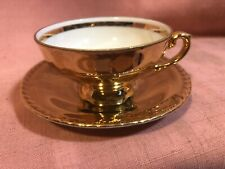 Vintage Petite Cup & Saucer Covered in GOLD Bavaria