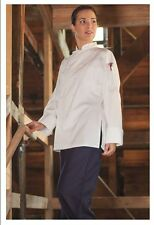 Women's Executive Chef Coats, Cloth Covered Buttons, Long Sleeve, Size: Xl - 470