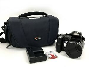 Sony DSC-H9 Cyber Shot Digital Still Camera 8.1MP Optical Zoom 15x w/ Battery