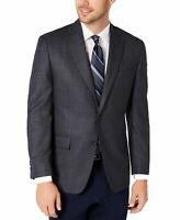 Michael Kors Mens Suit Seperate Blue Size 46 Long Blazer Houndstooth $110 072