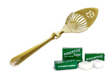 TOULOUSE LAUTREC ABSINTHE SPOON, GOLD-PLATED & 10 SUGAR CUBES + FREE SHIPPING !
