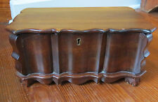 GREAT ANTIQUE WOODEN JEWELRY BOX CASKET with WONDERFUL DETAILS