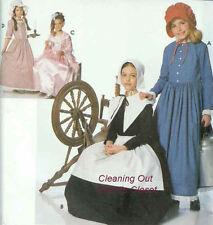 Historic America Costume Sewing Pattern Pilgrim Puritan Costume Girl S M L 9708