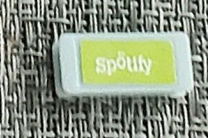 Gray+green SPOTIFY TILE:Monopoly Empire Board Game Replacement Part Piece !