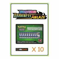 10 Sword and Shield Darkness Ablaze Codes | Pokemon TCG Online Cards Quick Email
