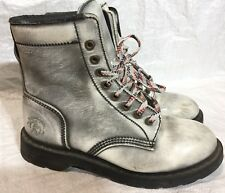 GLADIATOR Made In England Goth Punk Oil Resistant Boots Size UK 8 #10666