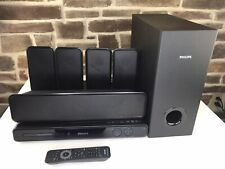 PHILIPS 5.1 Channel DVD Home Theater system HTS3565D Receiver 5 Speakers Subwoof