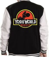 Yoshi World Hoodie or Varsity Jacket Small - 5XL Jurrasic Park