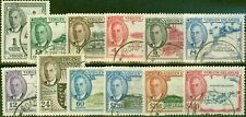 Virgin Islands 1952 Set of 12 SG136-147 Very Fine Used