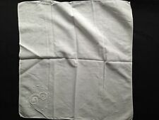 Vintage SCALLOPED ROSE SCRUNCHED COTTON  1940s Made in Czechoslovakia 1 piece